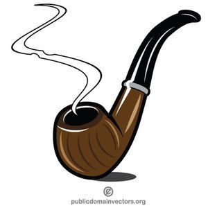 Smoking pipe clip art vector graphics.