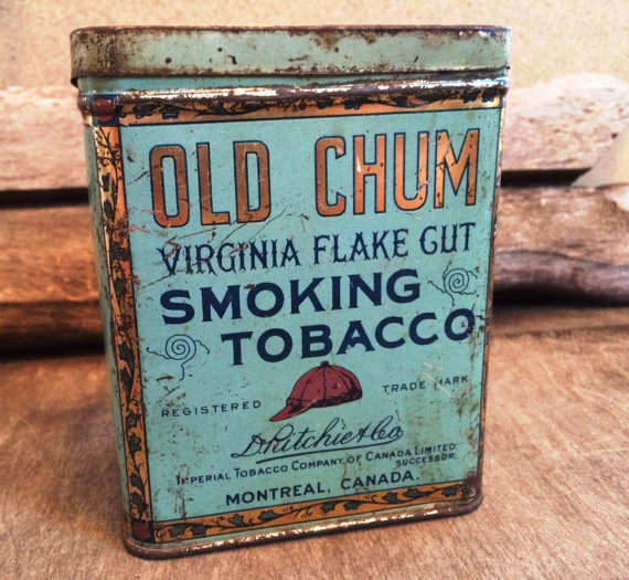 Old Chum Tobacco Tobacciana Antique Pipe Tobacco by PoppiesHouse.