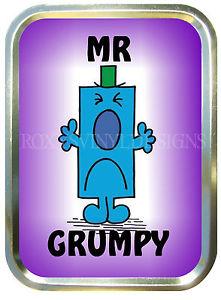 MR GRUMPY 2oz GOLD TOBACCO TIN,STASH CAN,STORAGE TIN.