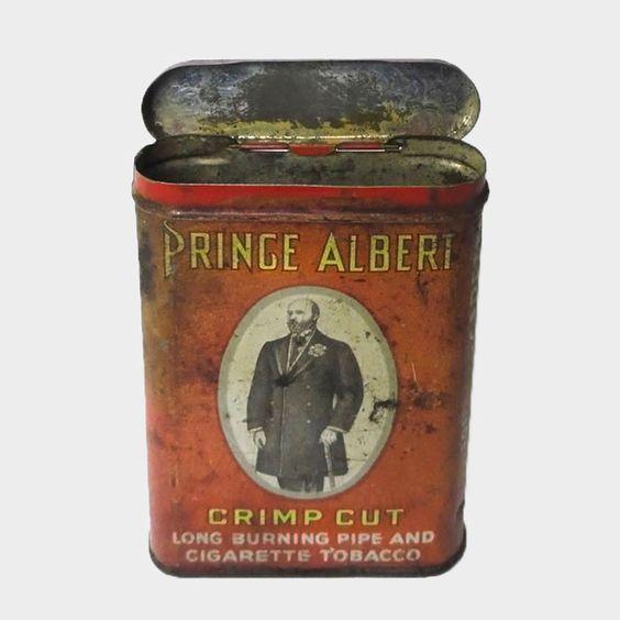Vintage Prince Albert Crimp Cut Pocket Pipe Cigarette Tobacco Tin.