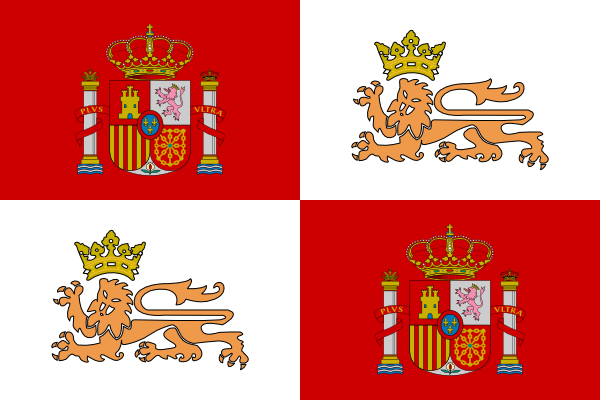 Tobias Historic Flag Of The Spain Royal Navy clip art Free Vector.