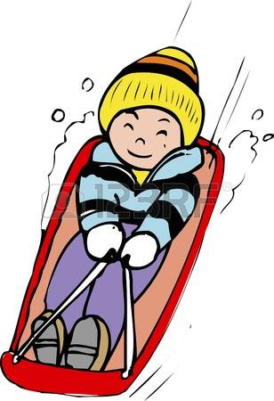 tobogganing clipart clipground