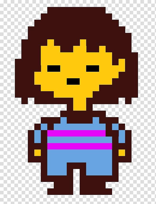 Undertale Sprite Pixel art, Toby Fox transparent background.