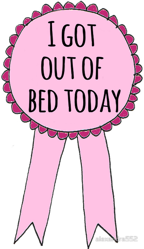 """I got out of bed today"""" Stickers by alexandra552."""