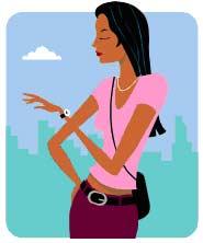 Girl watch clipart.