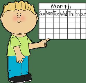 Preschool Calendar Clipart.