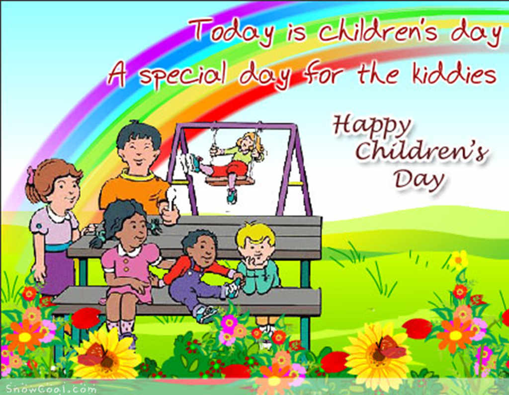 Today is Children\'s Day A Special day For The Kiddies happy.