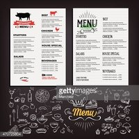 Grilled Steak House Menu With Today\'s Special stock vectors.