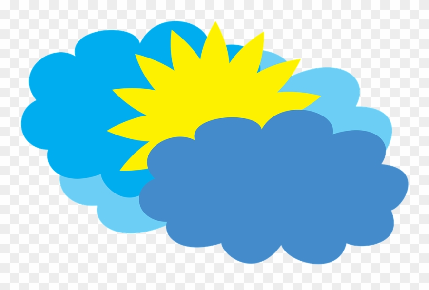 Cloudy Weather Forecast Partly Cloudy Clipart (#2279102.