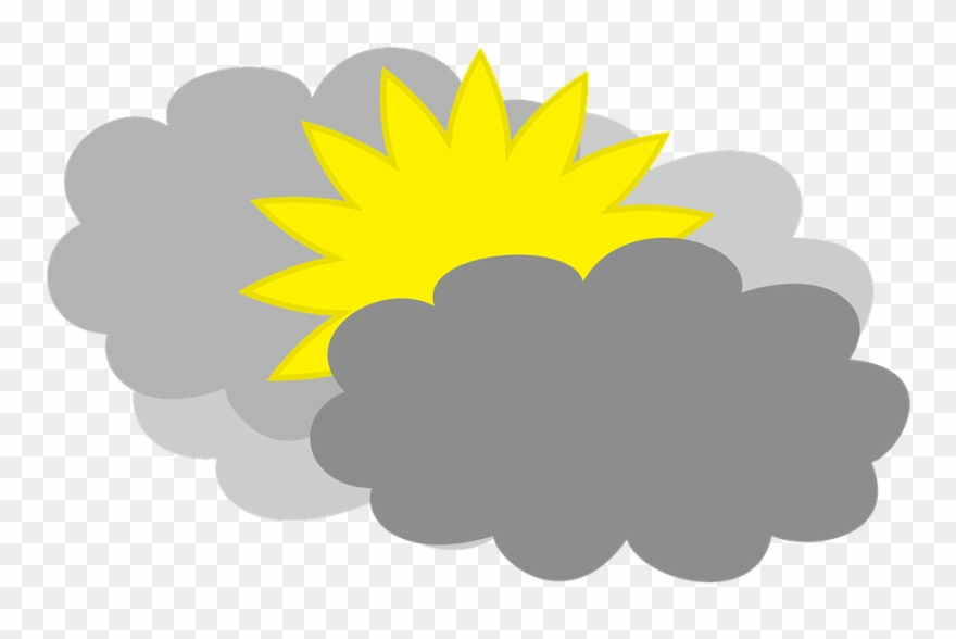 Cloudy Weather Forecast Partly Cloudy Clipart (#2646560.