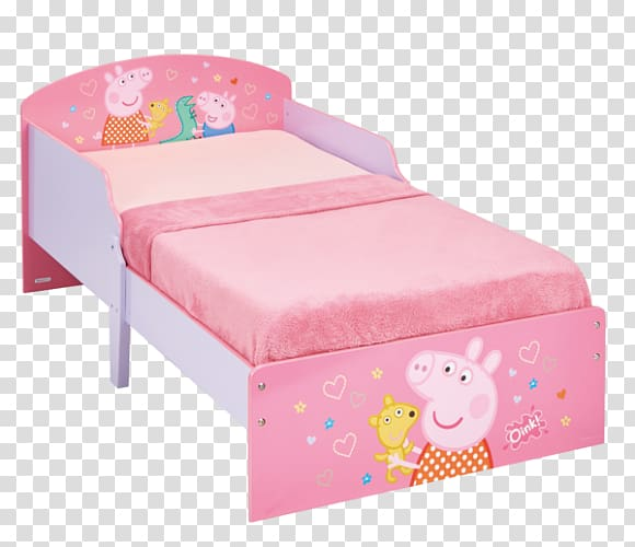 Toddler bed Cots Bedding Bed size, peppa transparent.
