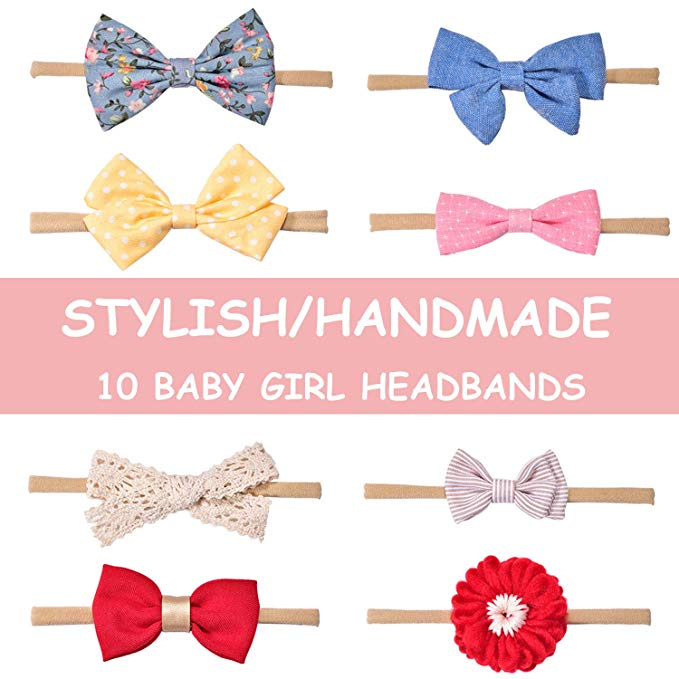 Baby Girl Headbands and Bows, Hair Accessories for Newborn Infant Toddler.