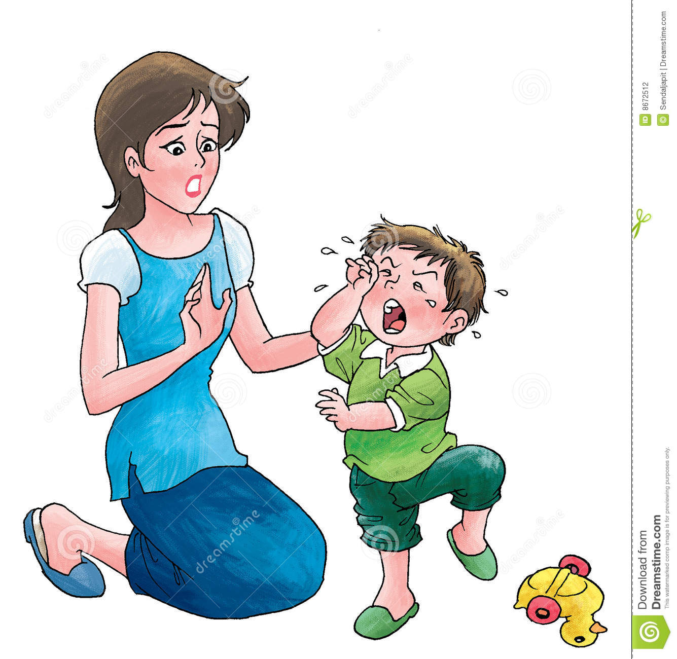 Toddler Crying Clipart.