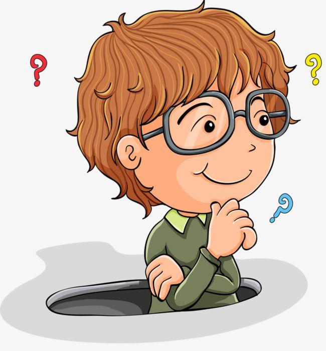 التفكير بوي, علامة استفهام, فكر, مدروس PNG وملف PSD للتحميل.