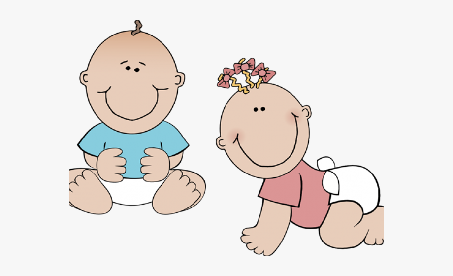 Babies Playing Cliparts.