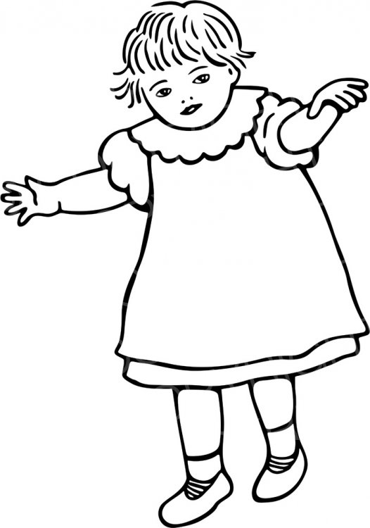 Toddler clipart black and white 1 » Clipart Station.