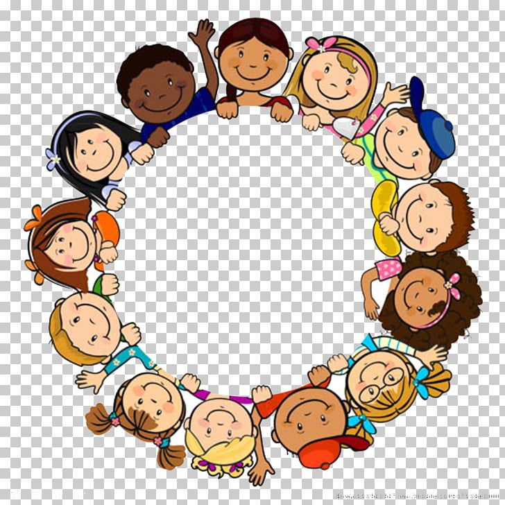 Child , Children in a circle, toddler illustrations PNG.