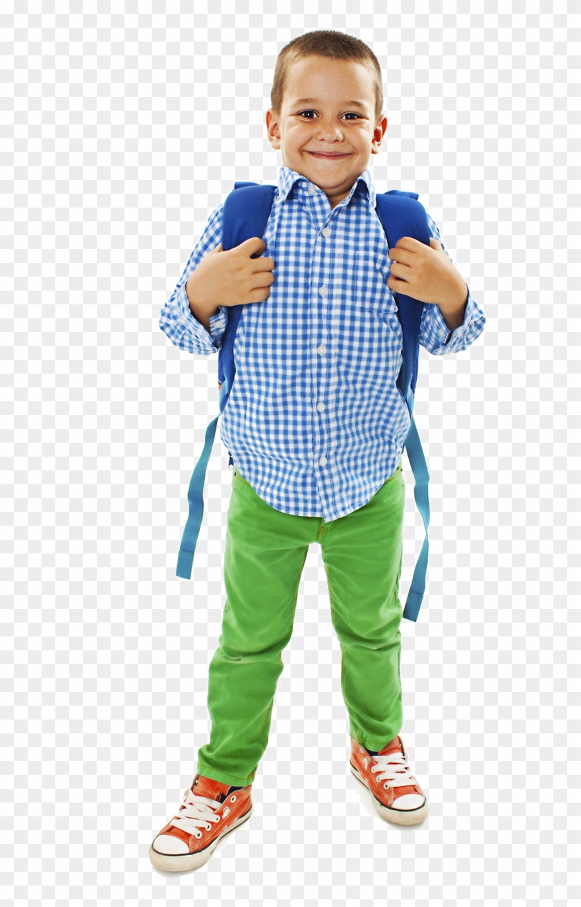 Kid With Backpack Png.