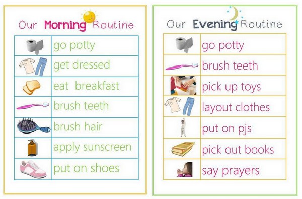 toddler schedule clipart #12