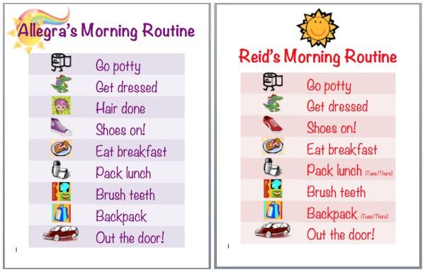 toddler schedule clipart #9
