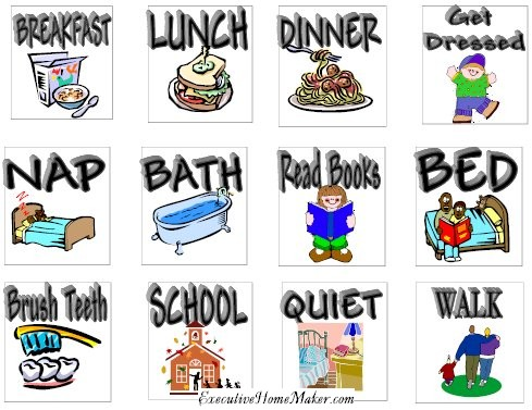 toddler schedule clipart #8