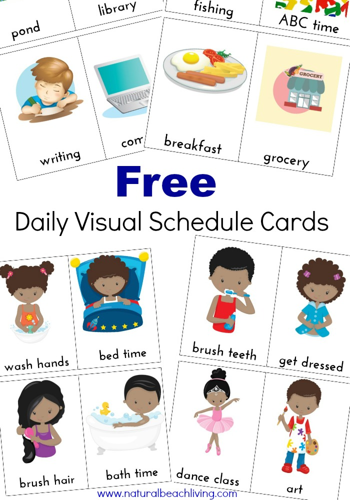 Daily Visual Schedule for Kids Free Printable.