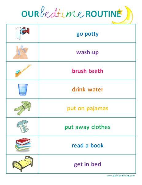 toddler schedule clipart - Clipground