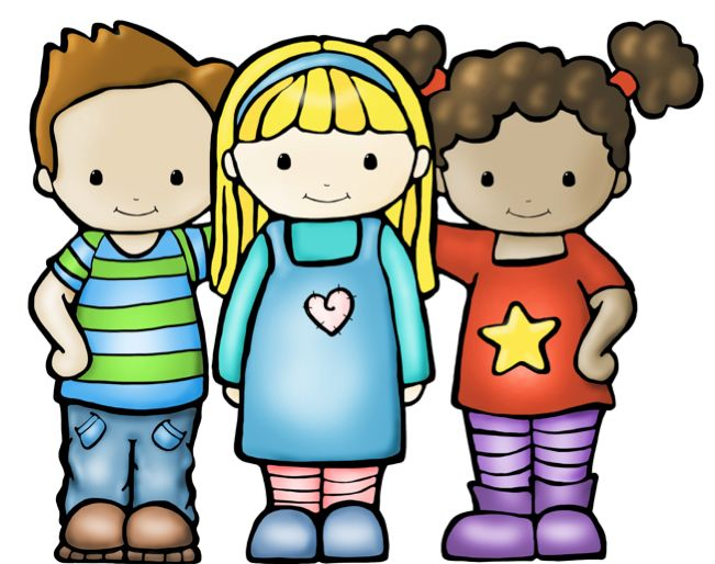 Kids cute kid clipart boys and girls together on holly.