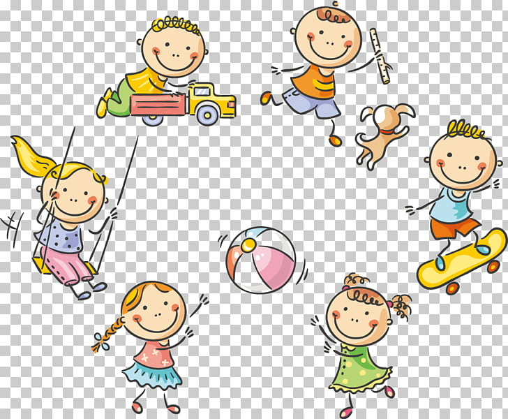Child Play Cartoon Stock photography, 61 Cute kids playing.