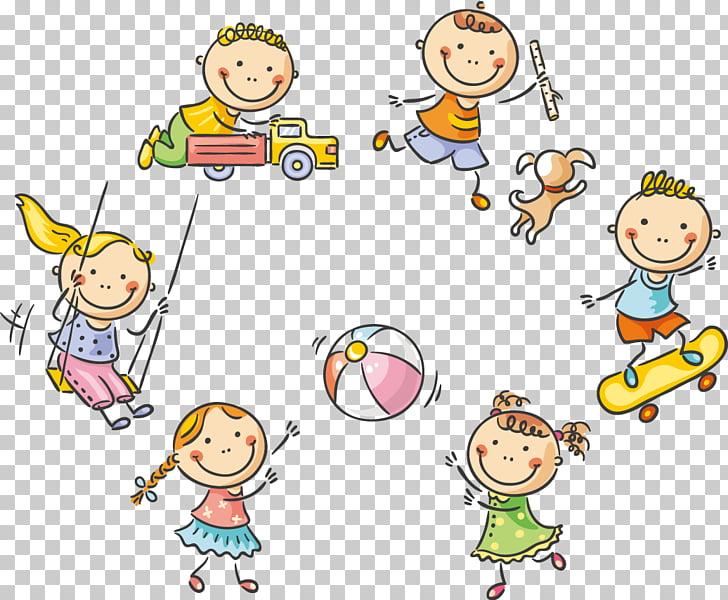 Child Play Cartoon Stock photography, 61 Cute kids playing.
