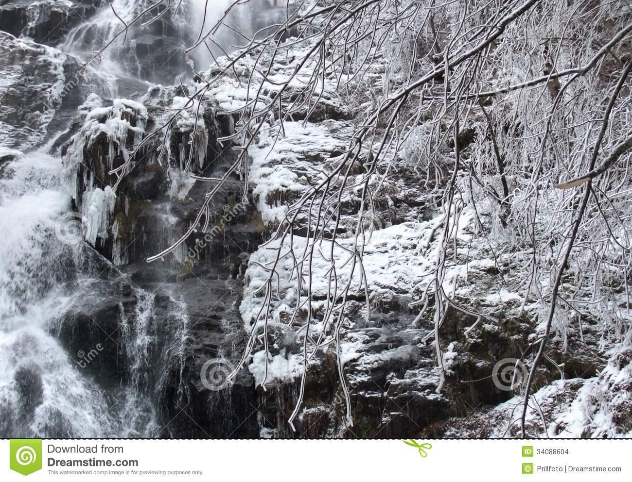 Todtnau Waterfall Detail Stock Images.