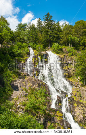 Todtnau Waterfall Stock Photos, Royalty.