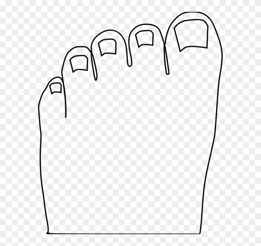 Toe Foot Human Body Computer Icons.