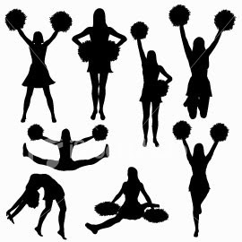 Cheerleading Toe Touch.