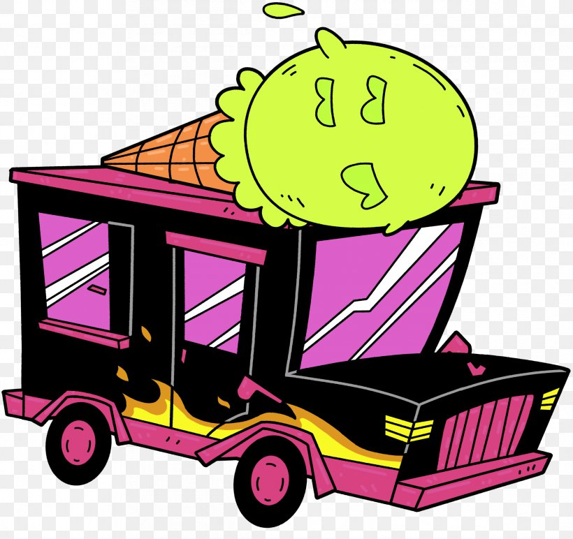 ToeJam & Earl: Back In The Groove Car Ice Cream Van Clip Art.