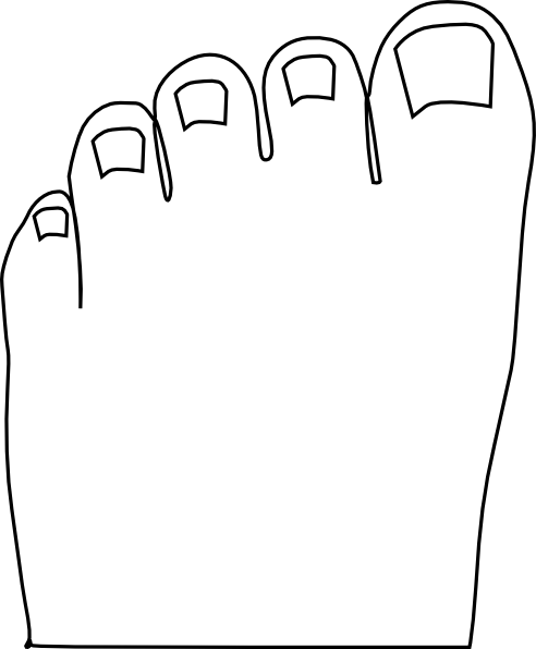 Toenail Clipart.