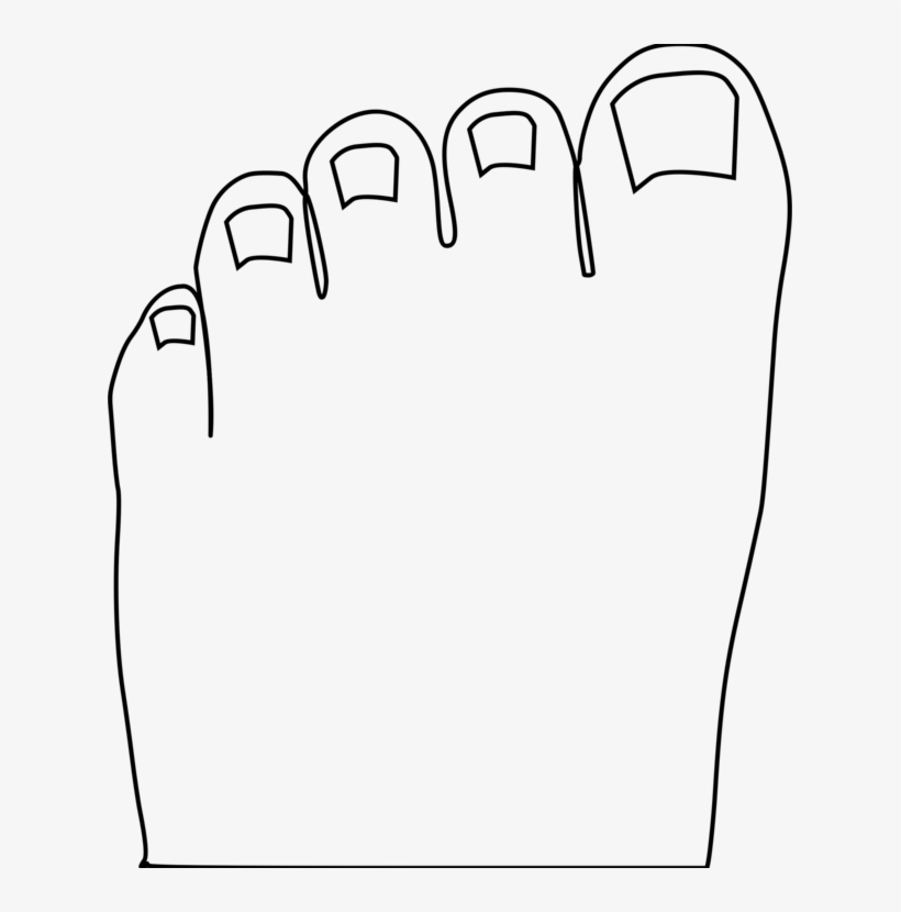 Toe Foot Human Body Computer Icons.