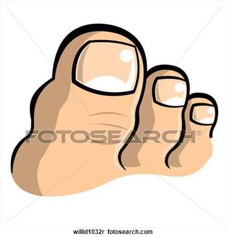 Toes clip art.