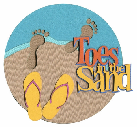 Toes In The Sand Laser Die Cut.