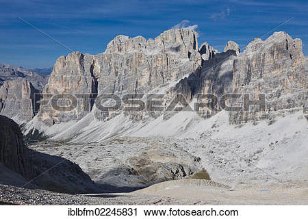 "Stock Photography of ""View from Little Lagazuoi Mountain towards."