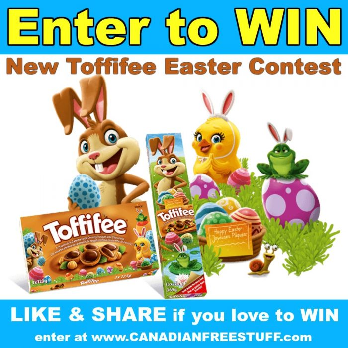 Toffifee Canada Contest: WIN 1 of 10 Toffifee Prize Packs worth.