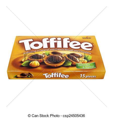 Stock Photos of Toffifee closed box.