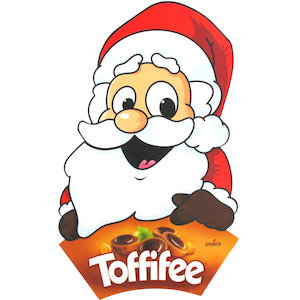 Toffifee Chocolates in a Santa Claus Box.