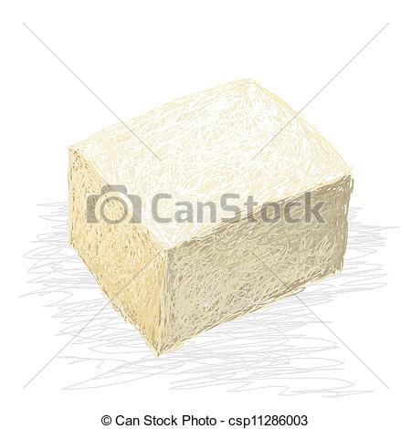 Vector Clipart of tofu.