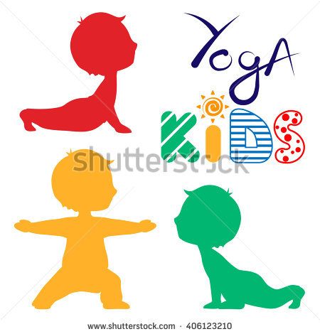 Children Yoga Stock Images, Royalty.