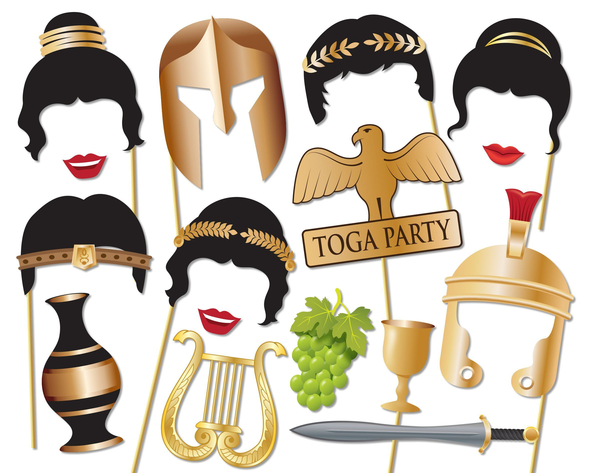 Toga Party Photo booth Props Set.