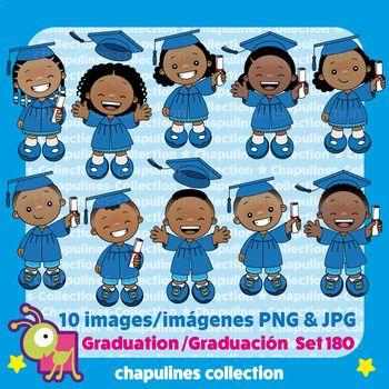 Clipart Graduation Kids, Graduación, blue cap and gown, toga.