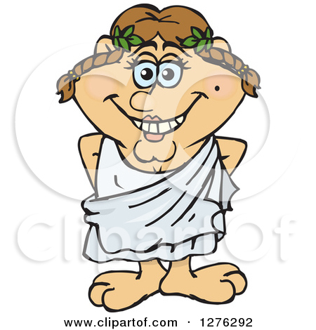 Clipart of cartoons in togas.