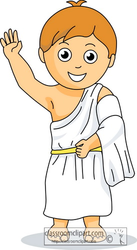 Roman Clothing Toga Clip Art.