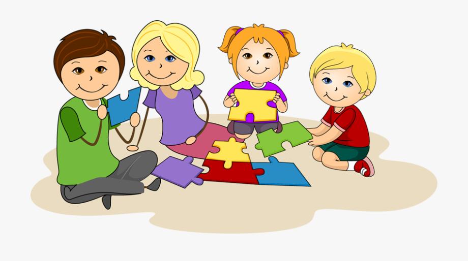 Children Working Clipart.